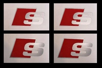 4x Audi S Line Aufkleber Silber Q5 Q3 A1 A2 A3 A6 A5 Sticker Rs Tt Tuning Sport Ebay