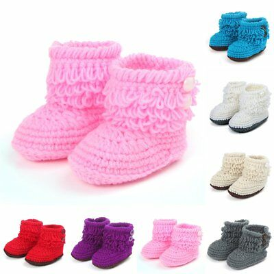 Casual  Infant Booties Knit Knitted Crochet Newborn For Girls//boys Baby Shoes