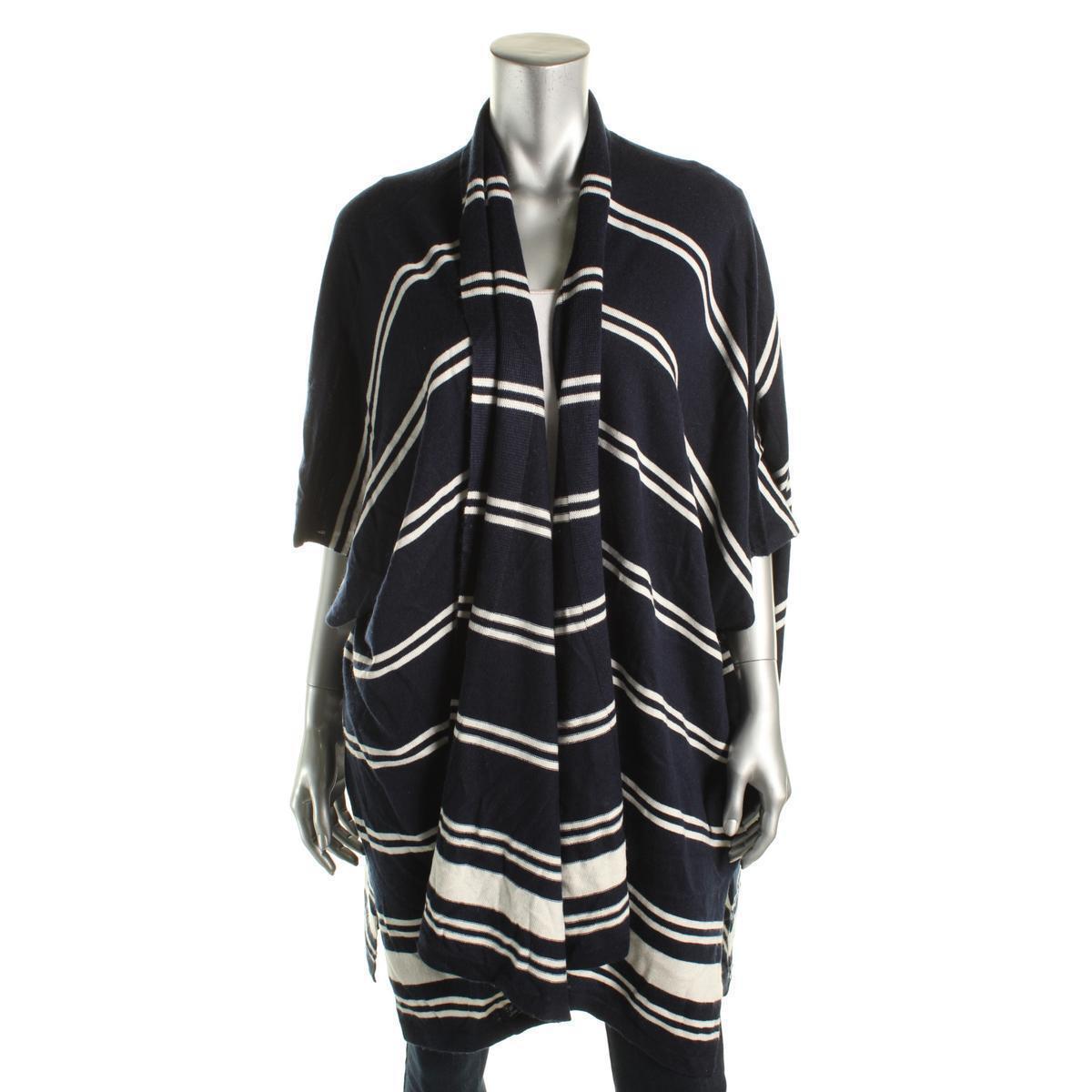 Lauren Ralph Lauren New  damen Silk Blend Cardigan Sweater M Medium Navy
