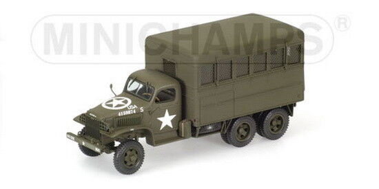 1 35 MINICHAMPS GMC CCKW 353 B2 - USA MILITARY BOX TRUCK - 1943 RARE NEW