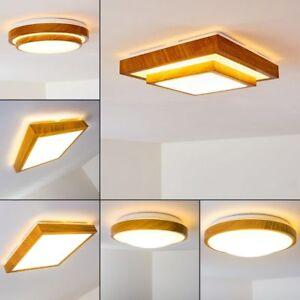 Details zu braune LED Deckenleuchte Sora Bad Badezimmer Waschraum Flur  Diele Holzoptik