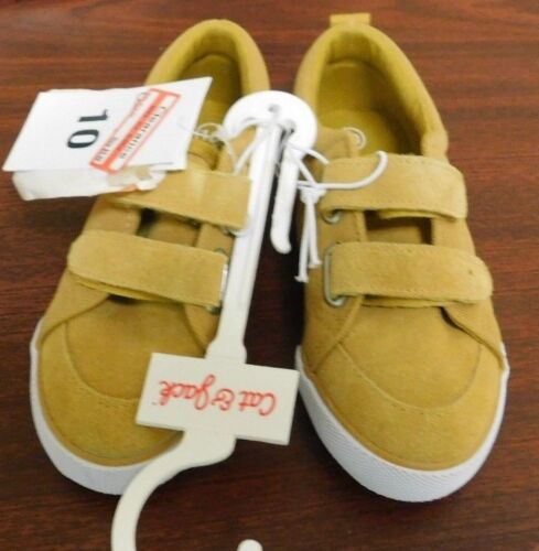 Cat And Jack Toddler Boys Diedre Bump Suede Shoes Yellow Multiple Sizes NEW
