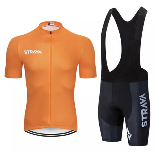 2020 STRAVA Team Cycling Jersey Set Clothing Breathable Shirt Bib Shorts 20D Pad