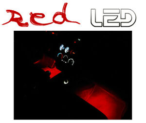 SEAT-LEON-3-5F-2-Ampoules-LED-ROUGE-plancher-sol-Pieds-Tapis-Red-Light-Footwell