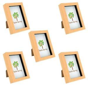 Box Picture Frame Deep 3D Photo Display 8x8 Inch Standing Hanging Red x5