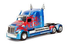 IN STOCK Jada Diecast Metal 1:24 Transformers 5 Optimus Prime Vehicle/Truck Mode