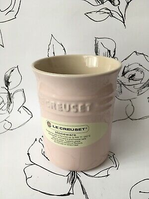 BNWT 15x10cm Utensil Holder Jar Pot Colour: RED LE CREUSET Stoneware LARGE