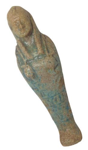 "Egyptian Rare Mummy Ushabti 6/"" Pharaoh Figure Statue Horus Eye Ancient  201"