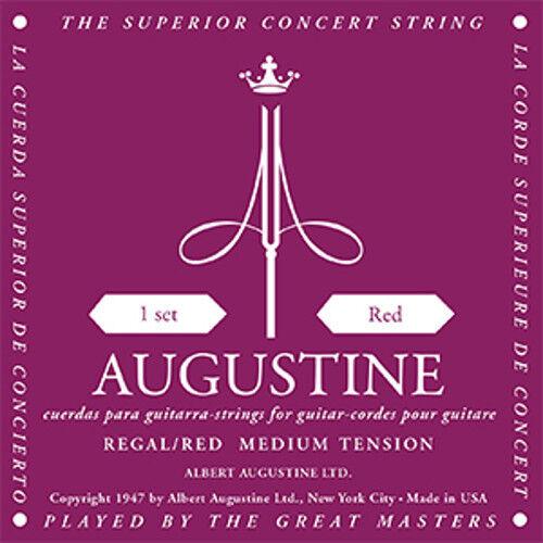 medium tension Augustine Regals Gitarrensaiten red Bass