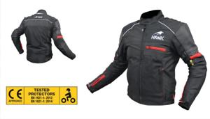 Giacca-da-Uomo-X-Moto-CHINOOK-Estivo-Traforato-protezioni-gomiti-spalle-schiena