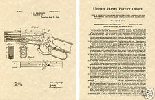 WINCHESTER 1894 LEVER ACTION RIFLE PATENT Art Print READY TO FRAME! Browning Gun
