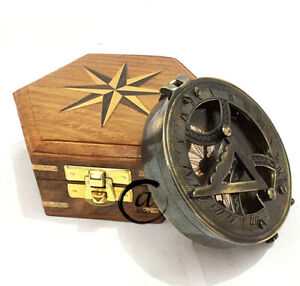 Valentine Sundial With Compass Nautical sUNDIAL Astrolabe Maritime Sun-diel W