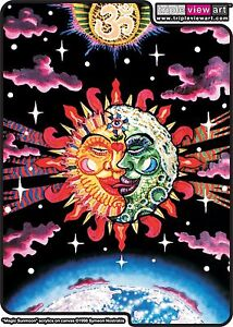 WOMENS-HOOD-T-SHIRT-UV-Blacklight-Glow-In-The-Dark-Psychedelic-Psy-Goa-Trance