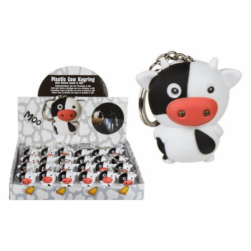 Schlüsselanhänger Kuh Kalb mit LED Licht und Sound Muh Moo Muht