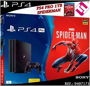 PS4-PLAYSTATION-4-PRO-1TB-4K-NEGRA-MARVEL-S-SPIDERMAN-JUEGO-MANDO-OFERTA-OFERTON