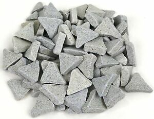 Green Triangle Tumbling Media Rock Polishing Vibrating Deburring 5 Pounds