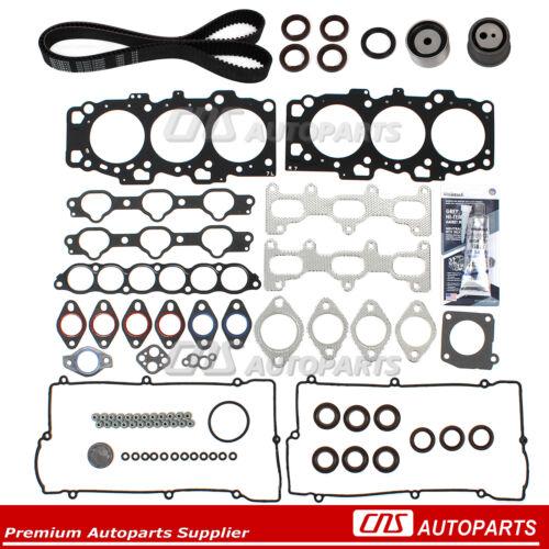 Fit 04-09 Hyundai Sonata Kia 2.7 DOHC G6BA Head Gasket Set Timing Belt Kit