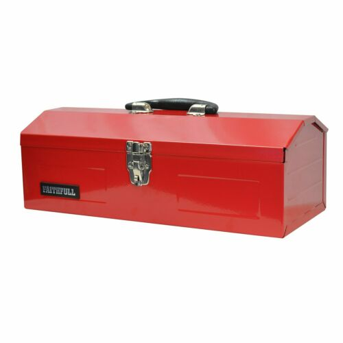 Metal Barn Faithfull 42cm 16in Tool Box Toolbox Tbh102b 48cm 19in