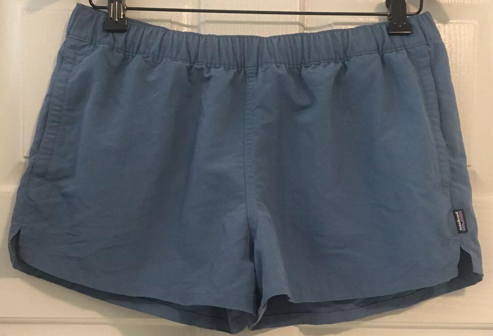 "☀️Patagonia Women's Barely Baggies Shorts 2 1/2"" Nylon Pigeon Blue PGBE Medium"