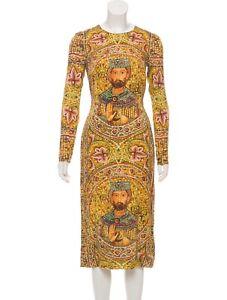 Dolce-Gabbana-Silk-Mosaic-Runway-Byzantine-Dress-Size-US2-IT38