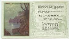 1920 Valentine Nebraska George Hornby ad blotter - vitamins? pep-pills?