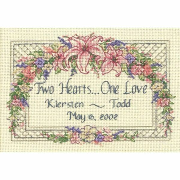 Cross Stitch Kit ~ Dimensions First Love Wedding Record Photo #35192 SALE!