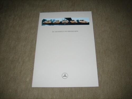 Mercedes Taxi C//E//S-Classe prospectus brochure de 4//1996 20 pages