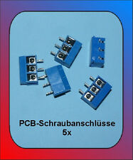 5 x Printklemme PCB Connector 3 Pin 5er Pack blau