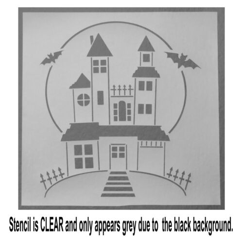 12 X 12 Spooky Haunted House STENCIL Template Halloween//Bats//Full Moon//Mansion