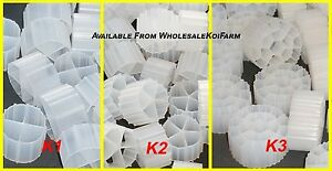 Fish & Aquariums Active Moving Wharehouse Hugesale Moving Bed Bio Filter Media 2 Cubic Feet Filtration Pretty And Colorful