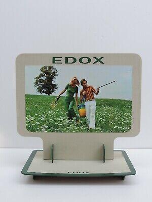 Gutherzig Vintage Edox Uhr Schild Reklame Werbung 70er Jahre Selten Mehr Im Shop