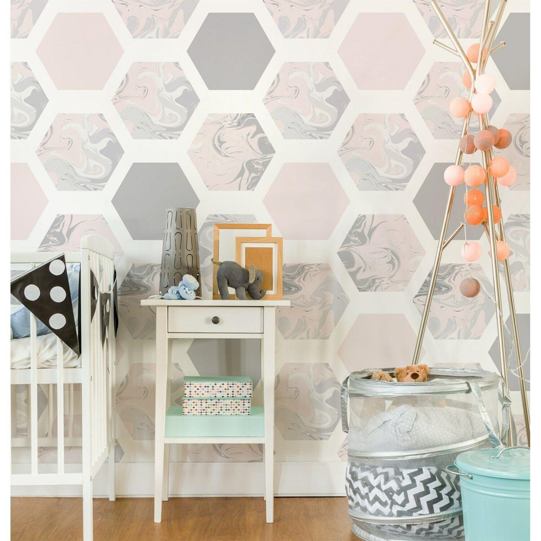 Geometric Honeycomb Hexagon pattern wall wall Home Mural Non-Woven wallpaper