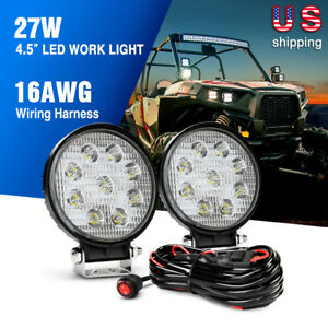 Details about Nilight Led Light Bar 2PCS 27W Round Spot Light,Wiring on