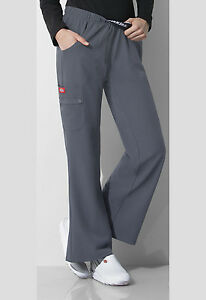 Pewter-Dickies-Scrubs-Xtreme-Stretch-Mid-Rise-Flip-Down-Pull-On-Pants-82012-PEWZ