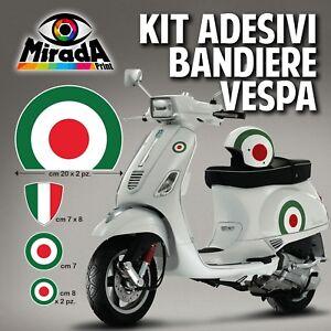 Details Zu Set Aufkleber Vespa Italien Flagge Px Gts Primavera Piaggio Dreifarbig 2