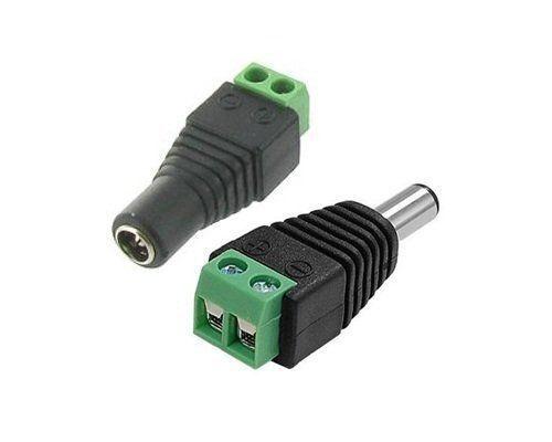 5 par macho hembra 2.1 X 5.5mm 12V Enchufe de Alimentación DC Conector adaptador Jack Para Cctv