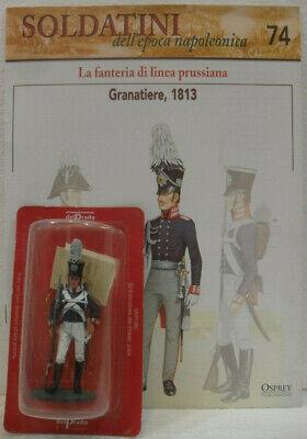 """Intelligente Soldatini Napoleonici In Piombo """"granatiere, 1813"""" Mm 54 C/fascicolo Di 16 Pag."""