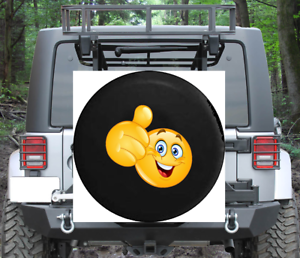 Spare Tire Cover Smiling Thumbs Up Emoji Text Wrangler RV