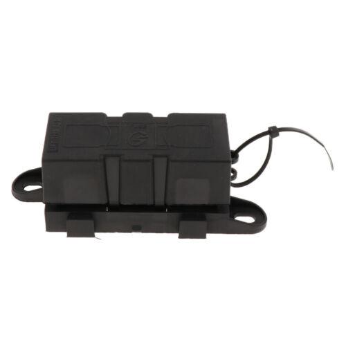 New MEGA Fuse Block//Holder with Cover Universal for RV//Van//Truck Black