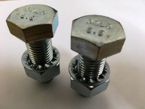 Tow Ball Bolts 75mm Long C//w Nuts /& Washers 8.8 HIGH TENSILE PAIR Tow Bar