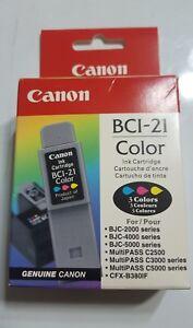 CANON-BCI-21-TRI-COLOR-INK-CARTRIDGE-GENUINE-NEW