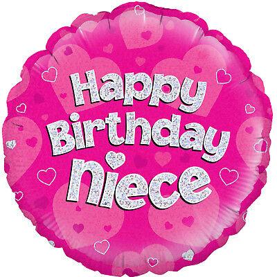Feliz Cumpleaños Sobrina Rosa 18 Aluminio Globo De Helio Fiesta Decoración Ebay