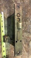 Antique Vintage CORBIN Heavy Brass Entry Pocket Door Mortise Lock - NO KEY
