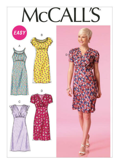 McCall's Sewing Pattern 7116 Plus SZ 16-24 Misses' Easy Empire-Waist Dresses