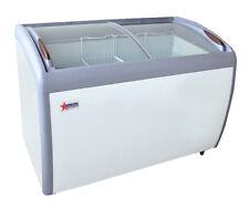 Omcan Xs 360yx 49x28x34 Inch Ice Cream Freezer 2 Sliding Glass Doors 128 Cu