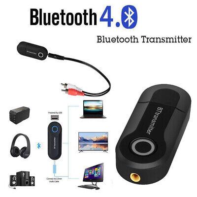 Multi Wireless BT Transmitter Stereo Audio Music Adapter Jack For TV Phone PC
