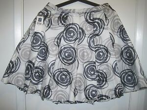 Circles With Smooth cotone Gap Skirt Stampe 100 Waves ORxHz4Bwq