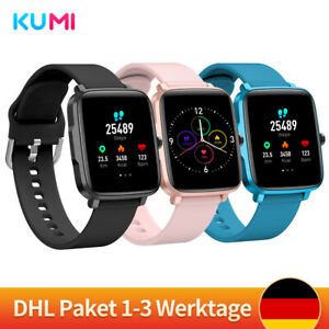 KUMI KU1S Smartwatch Fitness Track Heart Rate SportsThermometer for Xiaomi IOS