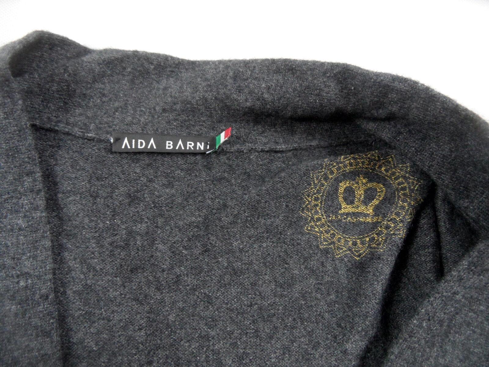 AIDA Barni di alta qualità lunga lunga lunga Cardigan 100% Cashmere Taglia M Top bi618 8d4f51