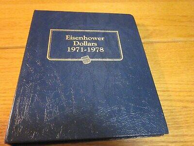 Whitman Classic Coin Album # 9131 For Eisenhower Dollars 1971-1978